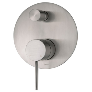 ikon hali wall mixer diverter brushed nickle hyb88-501bn